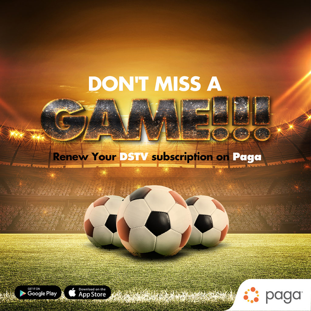pay fo your dstv bill with paga